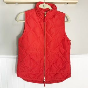 J.Crew Red Orange Down Excursion Vest Size- XS